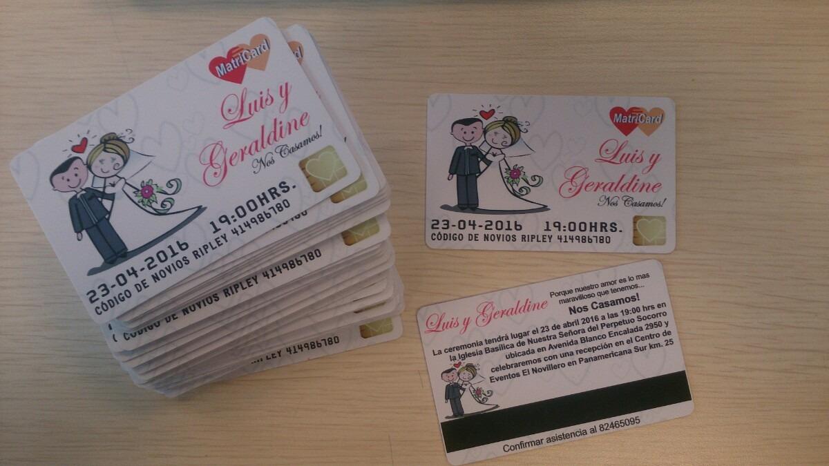 Invitaciones De Matrimonio Y Cumpleaños Diseño T Credito