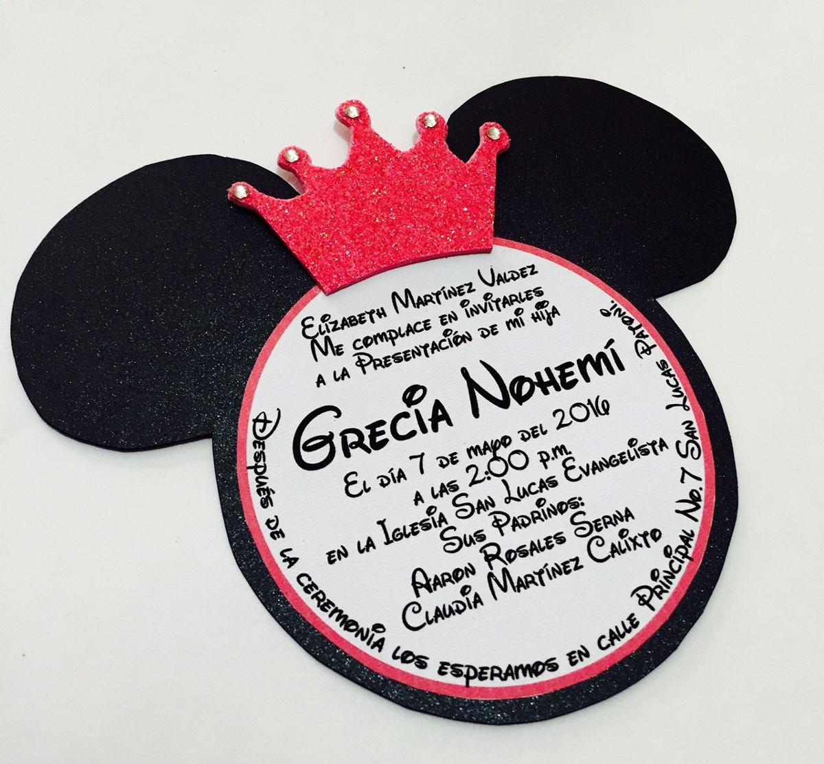 invitaciones de mickey y mimi mouse