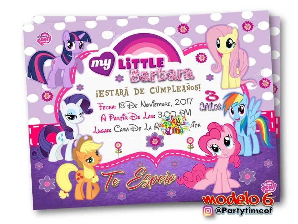 Invitaciones De My Little Pony Tarjeta Digital Whatsapp