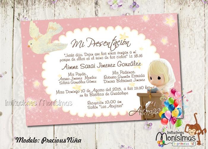 8d5b0ac13 Invitaciones De Presentación De 3 Años -   65.00 en Mercado Libre