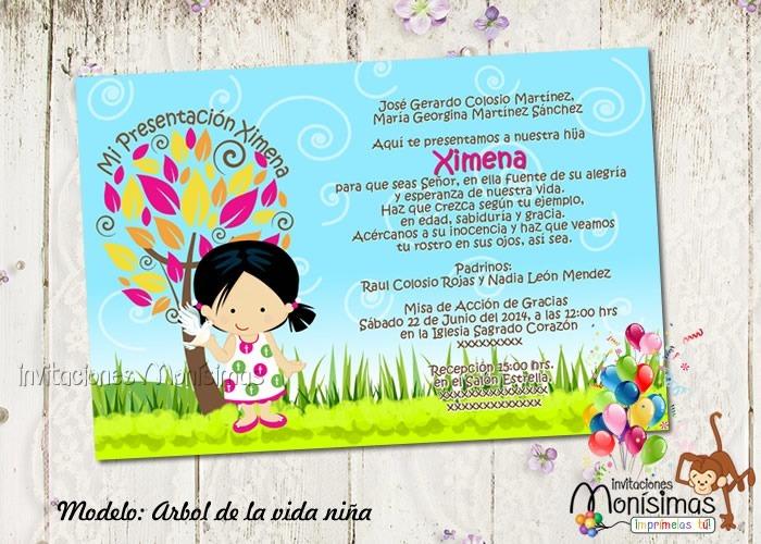 137b7b067 Invitaciones De Presentacion O Confirmación Personalizadas -   65.00 ...