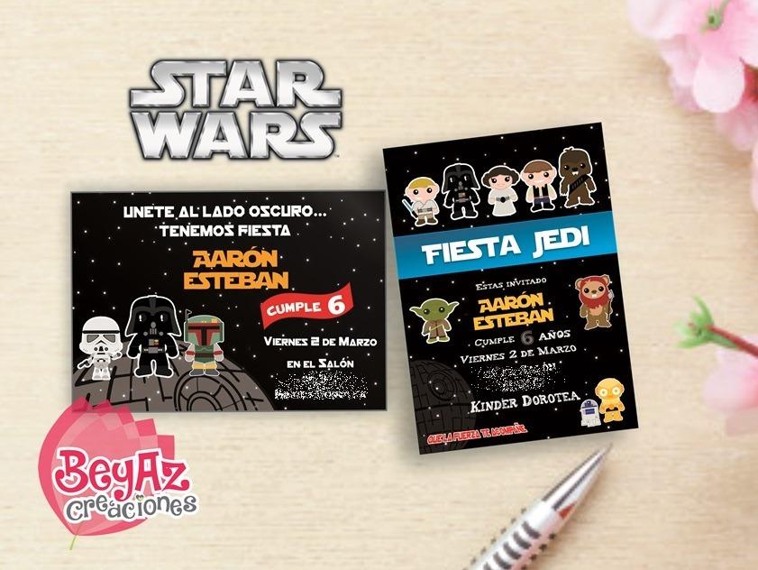 Invitaciones De Star Wars Para Imprimir