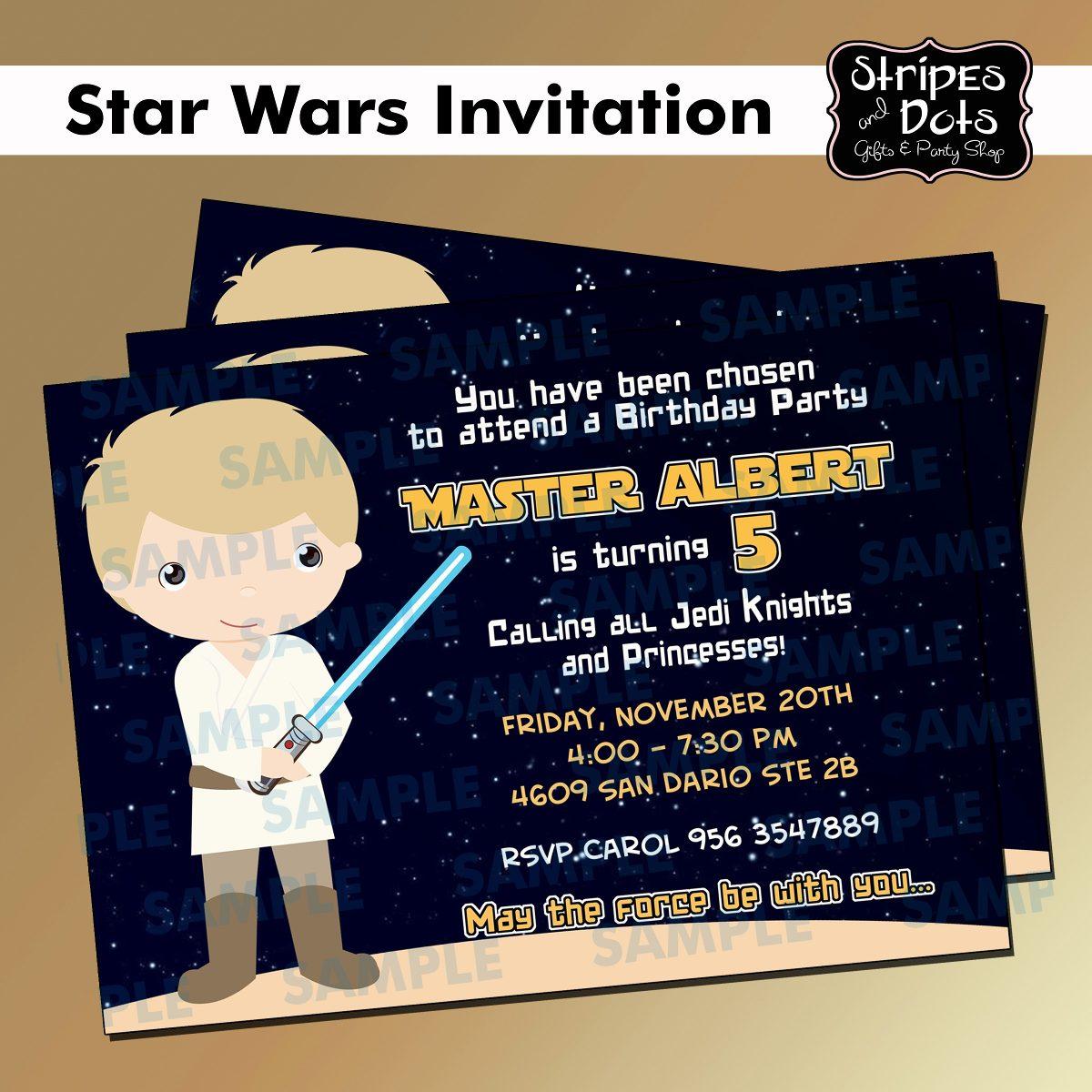 Invitaciones De Star Wars,joda,jedi,darth Vader, Star Wars ...