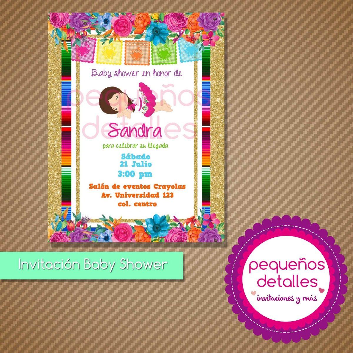 09c8480b0685f invitaciones digitales baby shower bautizo tema mexicano. Cargando zoom.