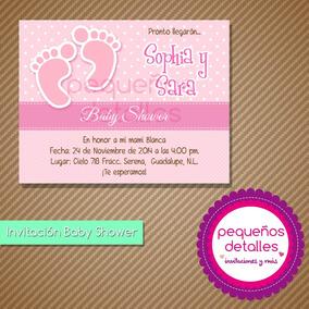 Invitaciones Digitales Baby Shower Gemelas