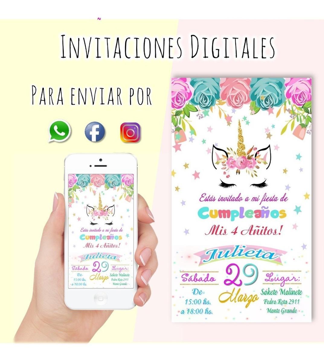 Invitaciones Digitales Cumpleaños Infantiles Personalizadas