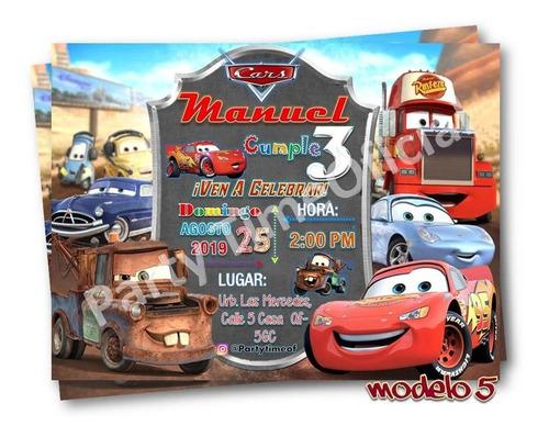 Tarjetas De Invitacion En Foami De Cars En Mercado Libre