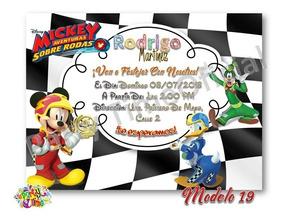 Invitaciones Digitales De Mickey Aventuras Sobre Ruedas