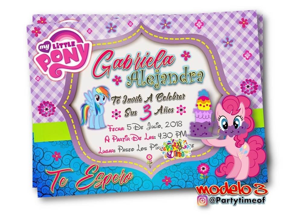 Invitaciones Digitales De My Little Pony Tarjeta Whatsapp