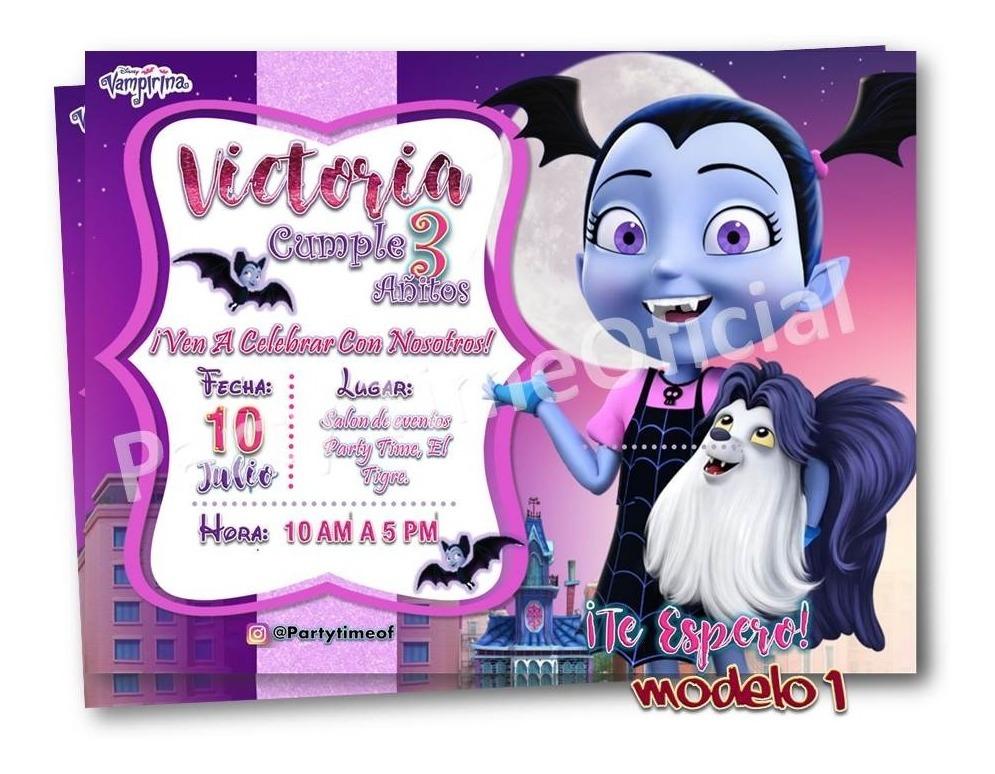 Invitaciones Digitales De Vampirina Tarjeta Whatsapp