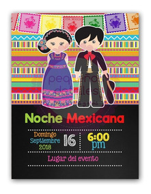 Invitaciones Digitales Fiesta Mexicana