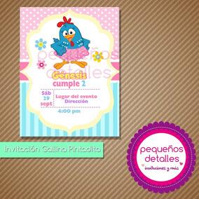 Invitaciones Digitales Gallina Pintadita