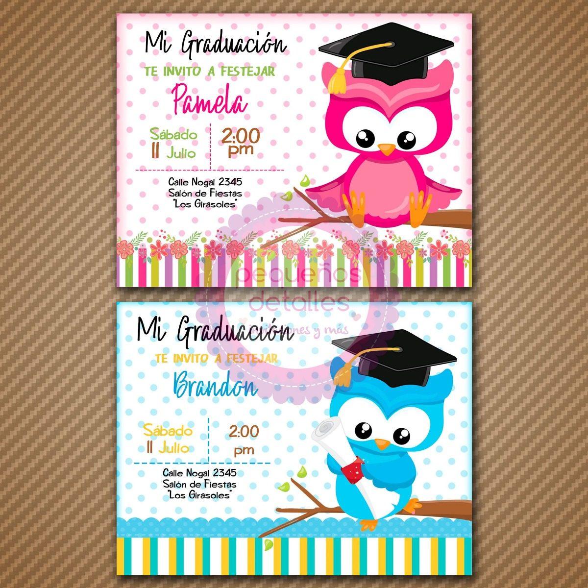 invitaciones digitales graduaci u00f3n kinder primaria fiesta