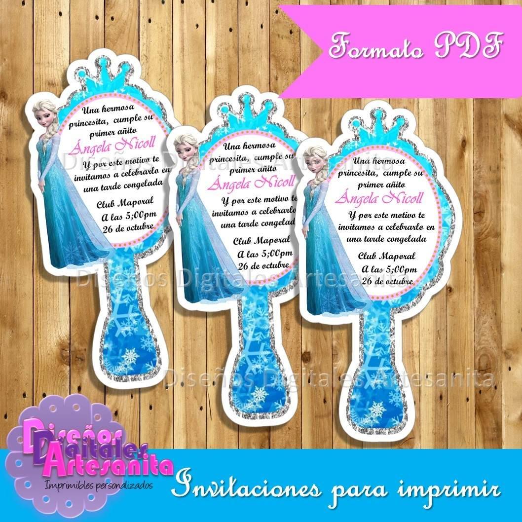 Invitaciones Digitales Imprimibles Espejo Princesas, Sofia - Bs. 70 ...