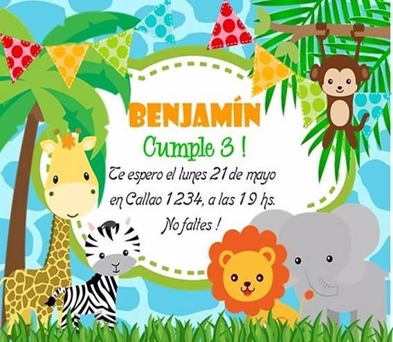 07b337d8086a6 Invitaciones Digitales Infantiles Para Niños   Usted Imprime ...