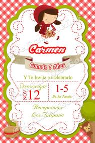 Invitaciones Digitales O Imprimibles Caperucita Roja