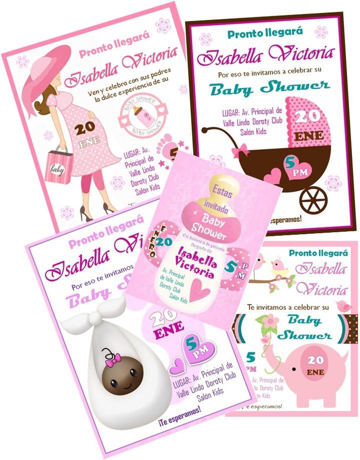 7d66a74434d55 invitaciones digitales para baby shower de niña. Cargando zoom.