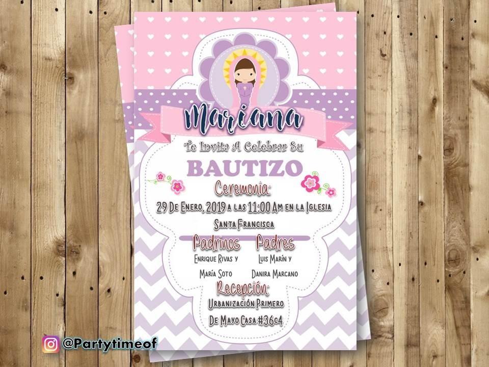 Invitaciones Digitales Para Bautizo Tarjeta Whatsapp
