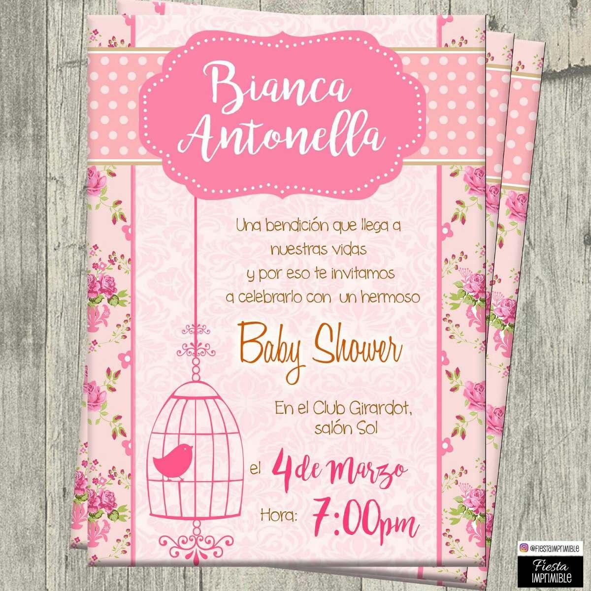 037aaf3fd1655 invitaciones digitales personalizadas baby shower de niña. Cargando zoom.