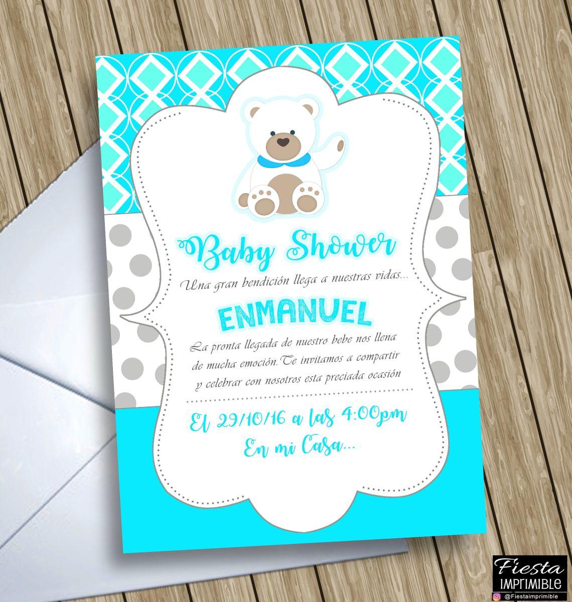 3e4bfe5e28a49 invitaciones digitales personalizadas baby shower de niño. Cargando zoom.