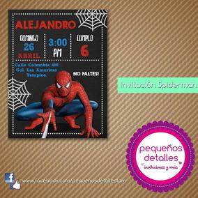 Invitaciones Digitales Spiderman Hombre Araña
