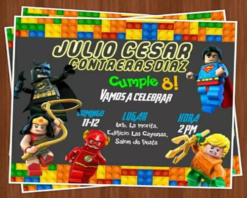 invitaciones digitales super héroes / usted imprime