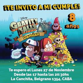 Invitaciones Digitales Whatsapp E Imprimibles Gravity Falls