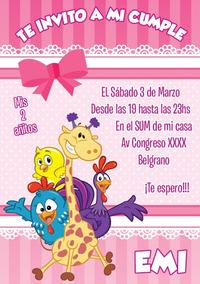 Invitaciones Digitales Whatsapp Imprimible Gallina Pintadita