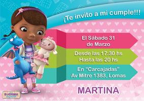 Invitaciones Digitales Whatsapp Imprimibles Doctora Juguetes