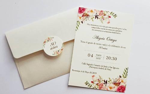 invitaciones economicas todo evento, bodas, fiestas, matine