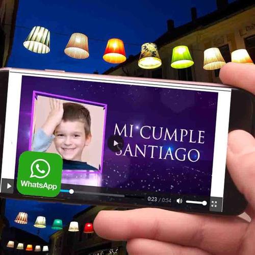 invitaciones en video cumpleaños , androi video tarjeta foto