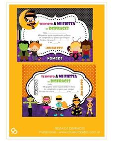 Invitaciones Originales Para Fiestas Infantiles Disfraces