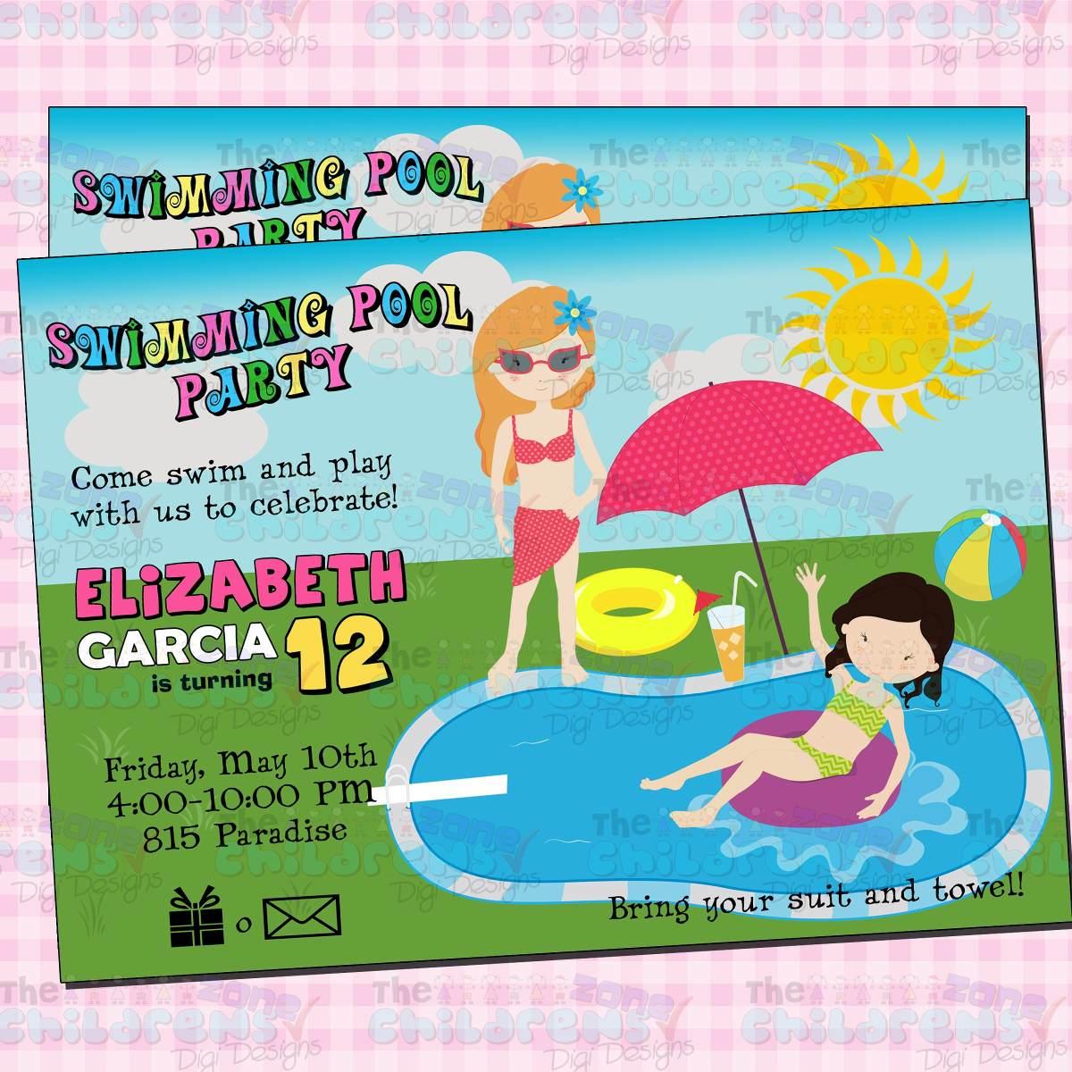 Invitaciones fiesta en alberca ticketparty alberca verano for Albercas para fiestas