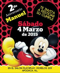 Tarjetas De Cumpleanos Mickey Mouse Invitaciones