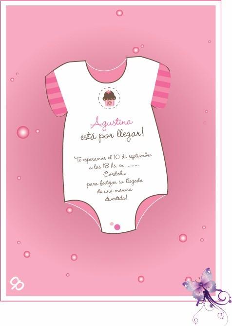 Invitaciones Forma Enterito Baby Shower Para Imprimir