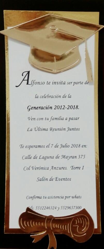 Invitaciones Graduacion Preescolar Primaria 60 Unidades 69000