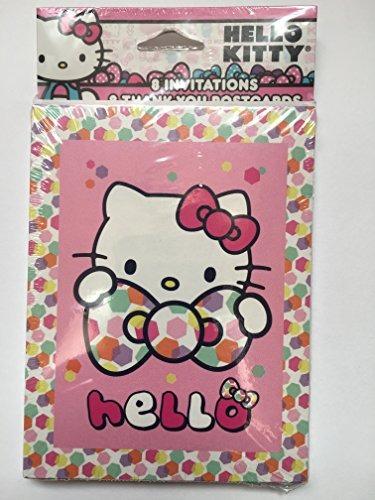 Invitaciones Hello Kitty Party Con Sobres Tarjetas Agradecim