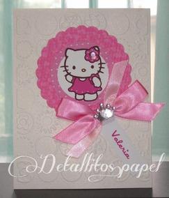 Tarjeta Cumpleaños Kitty Tarjetas Invitaciones Y Tarjetas