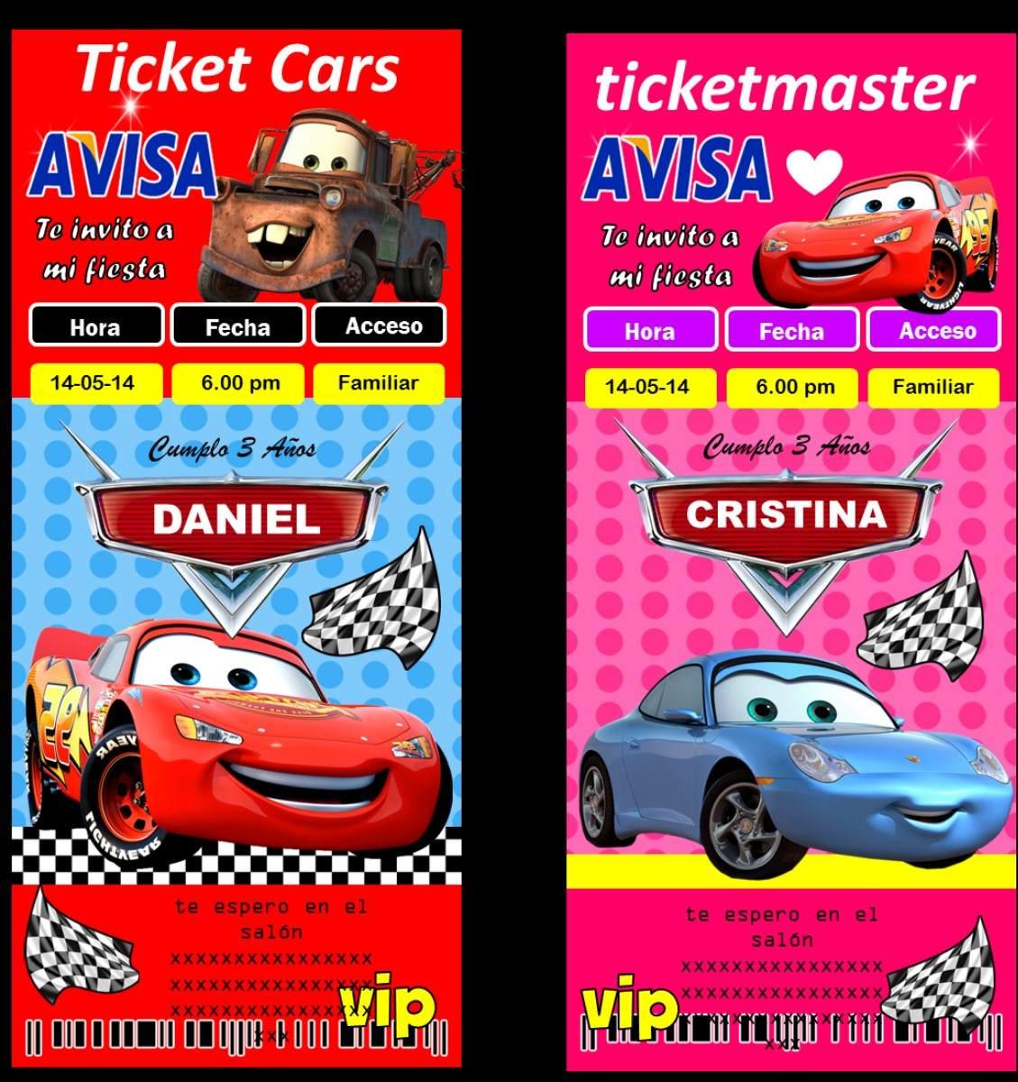 Invitaciones Hermosas Y Originales Frozen Minion Cars Y Mas