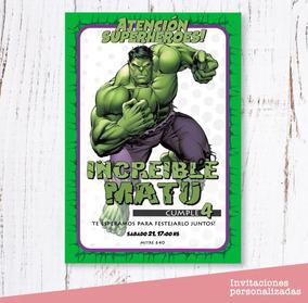 Invitaciones Hulk Cumpleaños Digital