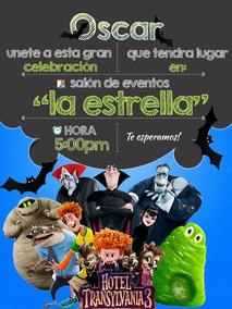 Invitaciones Infantiles Hotel Transilvania Imprimibles