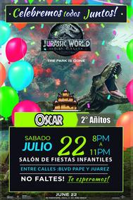 Invitaciones Infantiles Jurasic World Listas Para Imprimir