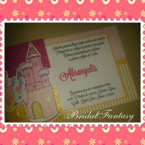 invitaciones infantiles personalizadas.