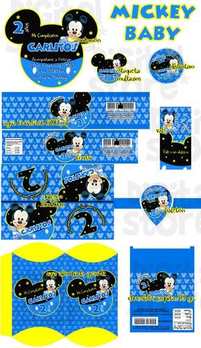 invitaciones infantiles personalizadas mickey baby !!! fdp