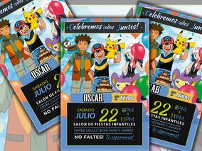 Invitaciones Infantiles Pokemon Listas Para Imprimir