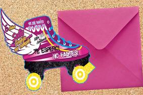 Invitaciones Infantiles Soy Luna Patin Cumpleaños