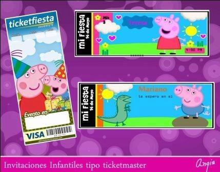 invitaciones infatiles ticketmaster