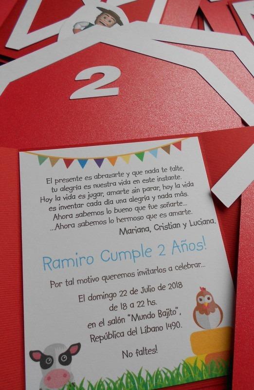 Invitaciones La Granja De Zenón Tarjetas Barracas Cap Fed