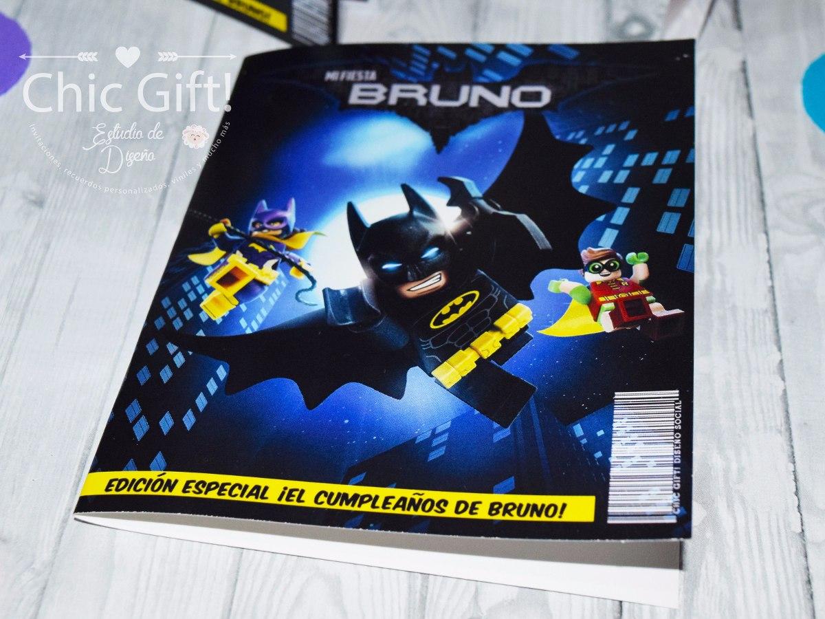 Invitaciones Lego Batman Tipo Comic Superheroes Invitacion E