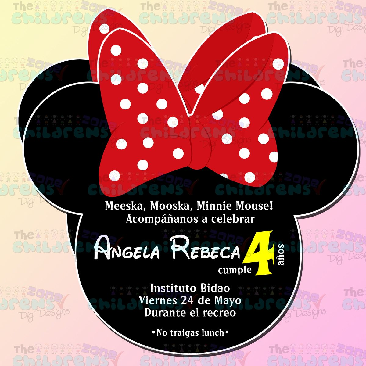Mickey And Minnie Invitations is best invitation template